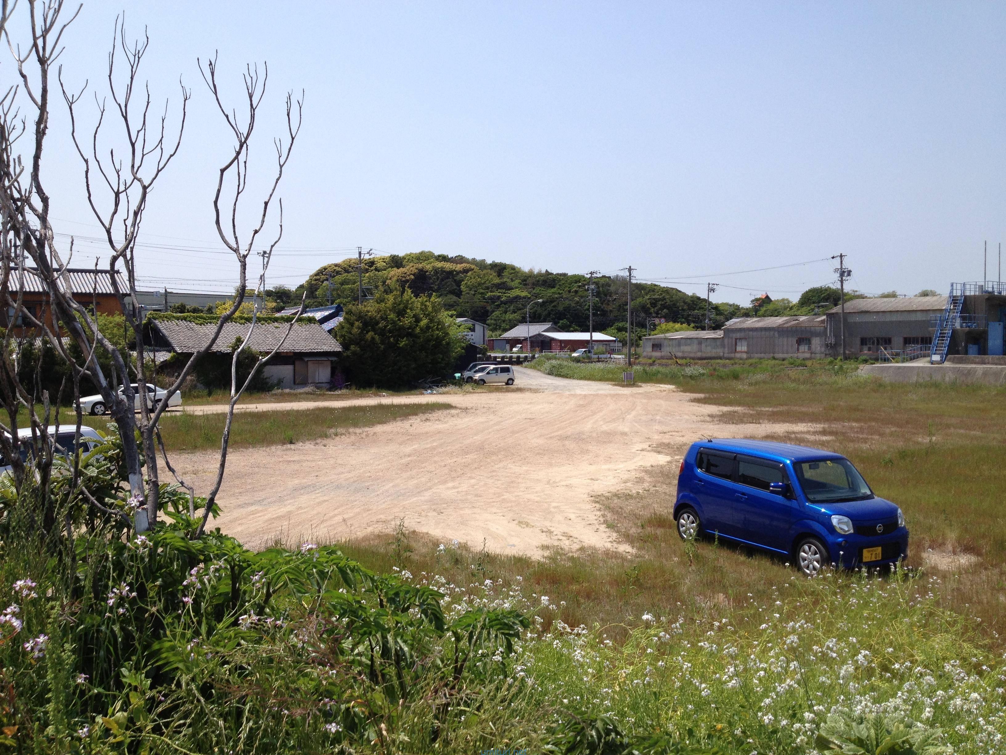 釣り場での駐車場