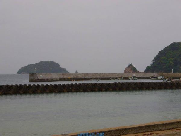竜宮浜海水浴場堤防