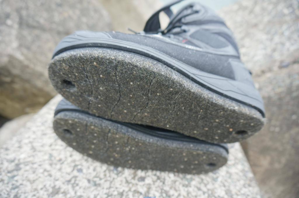 フェルトスパイクの靴底