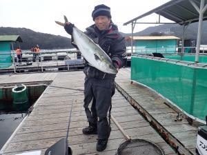 釣りおじさんin海上釣堀