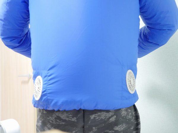 空調服の後ろ部分